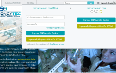Actualización del CTI VITAE (ex dina) del Concytec de docentes investigadores UNI