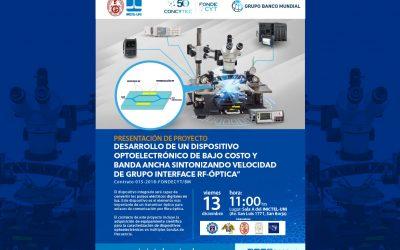 Presentación de Proyecto de Investigación Financiado por FONDECYT y el Banco Mundial