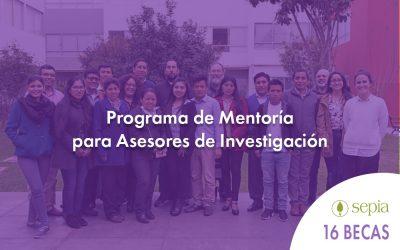 CONVOCATORIA: Programa de Mentoría para Asesores de Investigación.