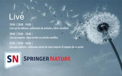 Únase a los webinars y live para investigadores y autores de Springer Nature