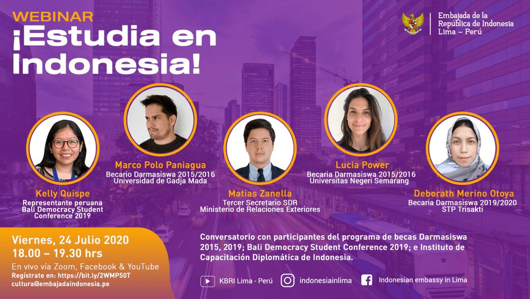 La Misión Diplomática de Indonenesia invita a participar del Webinar ¡ESTUDIA EN INDONESIA!