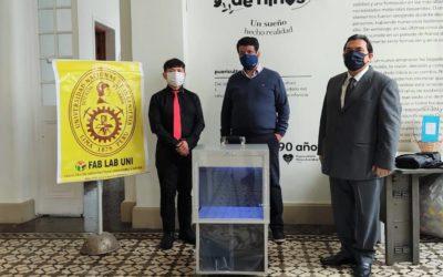 Cámaras desinfectantes de ozono, inventada por la UNI, son donadas a instituciones benéficas