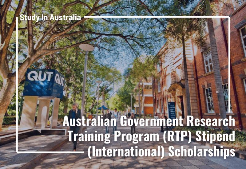 Becas internacionales QUT, del estipendio RTP del gobierno australiano, orientado a estudiantes.
