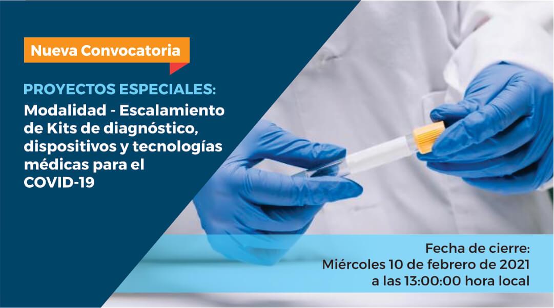 COVID-19: Concytec lanza concurso para apoyar la producción de kits de diagnóstico y dispositivos