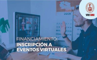VRI-UNI lanza Convocatoria de financiamiento a inscripción y presentación a Congresos Virtuales